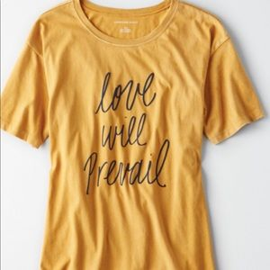 American Eagle Oversized Washed Graphic Tee